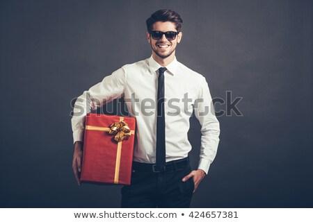 férfi · arc · elismerés · számítógép · szem · biztonság - stock fotó © rtimages