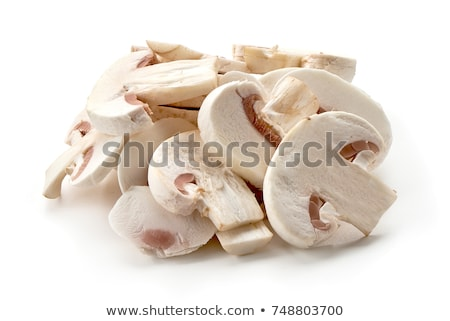 friss · champignon · gombák · izolált · fehér · étel - stock fotó © illustrart