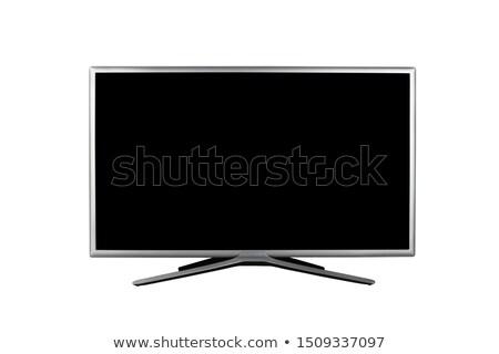 Plazma tv vermek ekran medya eğlence Stok fotoğraf © georgejmclittle