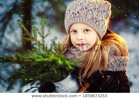 blond girl with gloves stock photo © carlodapino