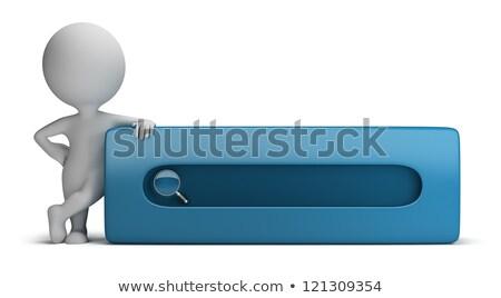 ストックフォト: 3d Small People - Search Bar