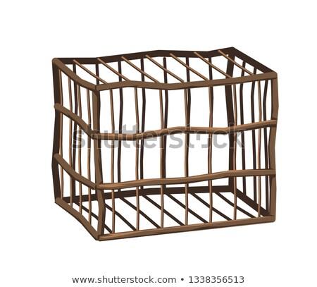 Wooden cage. Stock photo © Leonardi