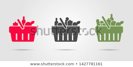 set pictograms supermarket services shopping colour icons stock photo © ecelop