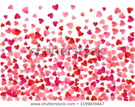 valentines day banner with ruby heart vector illustration stock photo © carodi