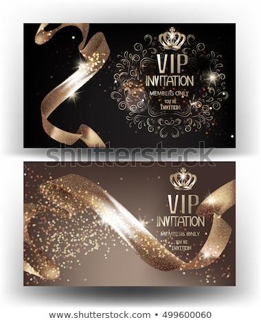 Bronze vip clube cartão membro cor Foto stock © liliwhite
