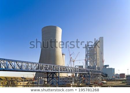 Szén elektromos erőmű hűtés kémény tornyok gőz Stock fotó © Rob300