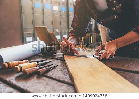 falegname · lavoro · tetto · struttura · primo · piano · focus - foto d'archivio © photography33