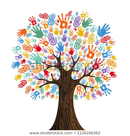 дерево · стороны · вектора · ребенка · краской · искусства - Сток-фото © lilac