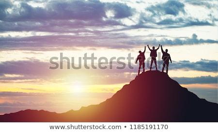 три · сидят · пирс · бирюзовый · морем · воды - Сток-фото © jkraft5