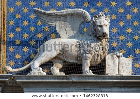 Close up of Clock Tower at San Marco square in Venice Stock photo © AndreyKr