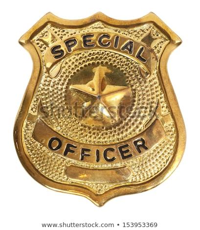 police golden badge Stock photo © shutswis