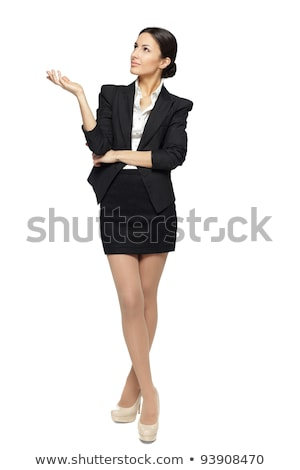 business woman with palm up stock photo © dacasdo