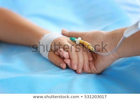 hand with a catheter Stock photo © rozbyshaka
