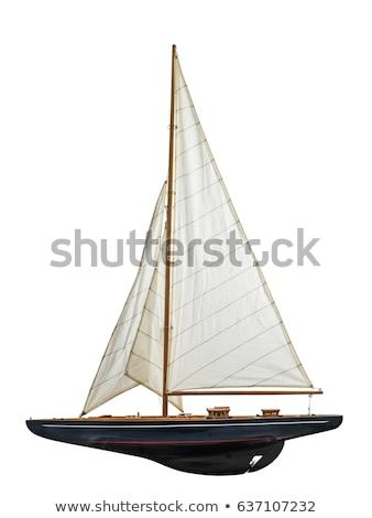 sail on white background Stock photo © shutswis