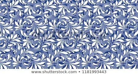 Mroźny wzorców niebieski Snowflake streszczenie tle Zdjęcia stock © ElenaShow