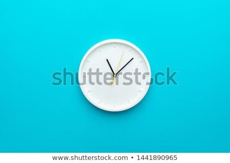 Parede relógio antigo cerâmico isolado branco Foto stock © smuki