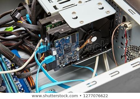 Harde schijf geïsoleerd witte computer technologie groene Stockfoto © Roka