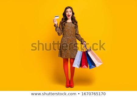 Leopard talon chaussures femme peau dessins Photo stock © Marcogovel