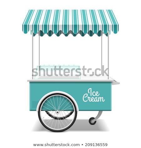 アイスクリーム カート 実例 市 通り チョコレート ストックフォト © adrenalina