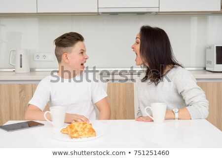 Conflict with mother and son  stock photo © dacasdo