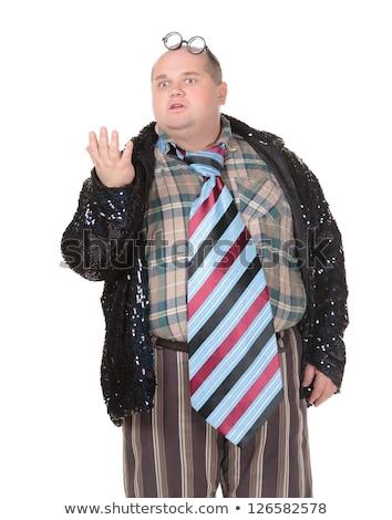 Obese man with an outrageous fashion sense Stock photo © Discovod