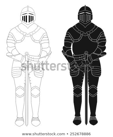 Сток-фото: средневековых · Knight · статуя · интерьер · замок · здании