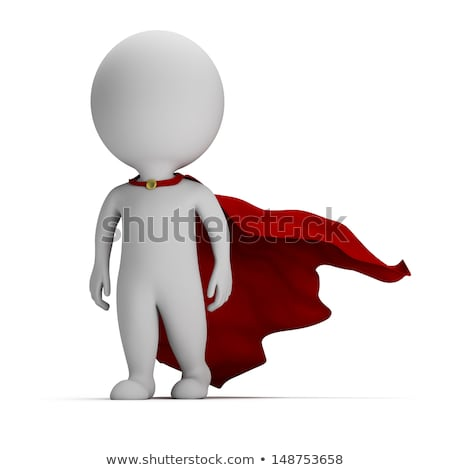 3d small people   brave superhero stock photo © anatolym