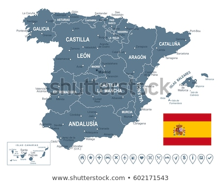 Map of Europe with Catalonia Stock photo © Ustofre9