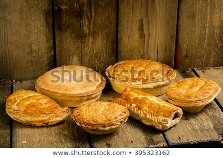 meat pie and ingredient Stock photo © M-studio