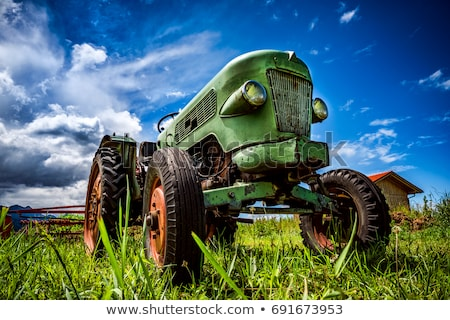 Antieke trekker stoom werk industrie boerderij Stockfoto © taden