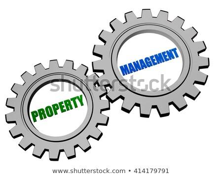 Stockfoto: Dienst · marketing · verkoop · zilver · grijs · versnellingen