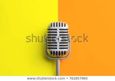 микрофона · цвета · черный · пластиковых · пена - Сток-фото © albund