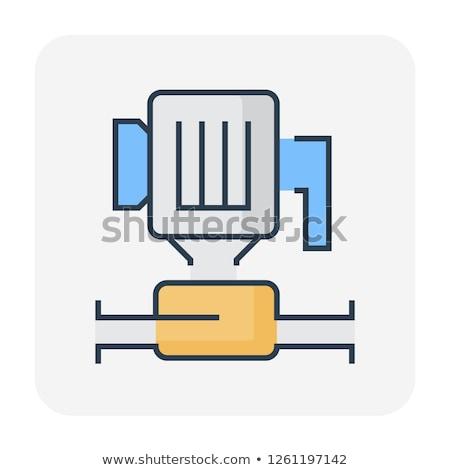 электрических насос эскиз прибыль на акцию 10 бумаги Сток-фото © cherezoff