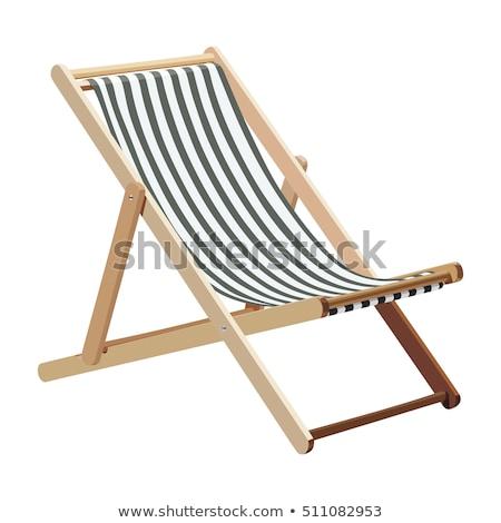 chaise · en · bois · coucher · du · soleil · plage · lac · ciel · paysage - photo stock © hermione