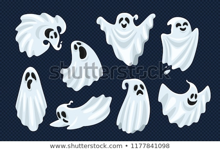 Halloween ghost vector icons set - scary, friendly, happy Stock photo © RedKoala