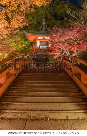 寺 京 日本 1泊 秋 ストックフォト © vichie81