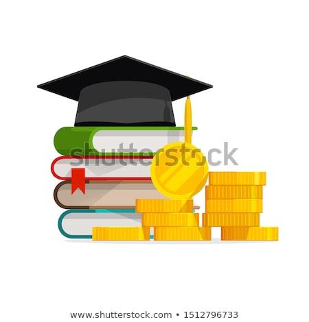 oktatás · iskola · tandíj · emelkedő · érettségi · magasság - stock fotó © lightsource