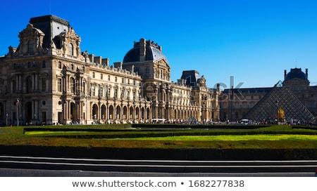 panjurlu · pencere · müze · Paris · 16 · manzara · piramit - stok fotoğraf © sailorr
