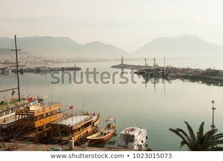 turkish fortress at the mediterranean sea stock photo © kravcs