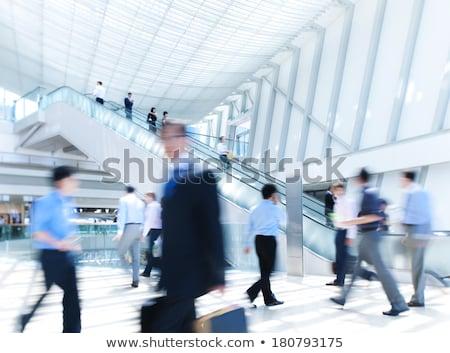 ruchu · tłum · niebieski · grupy · czasu · ruchu - zdjęcia stock © meinzahn