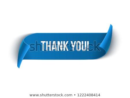 köszönjük · szöveg · szövegbuborék · citromsárga · papír · kék - stock fotó © ivelin
