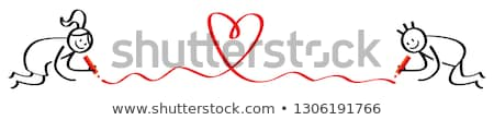 stick figure with a red heart stock photo © ustofre9
