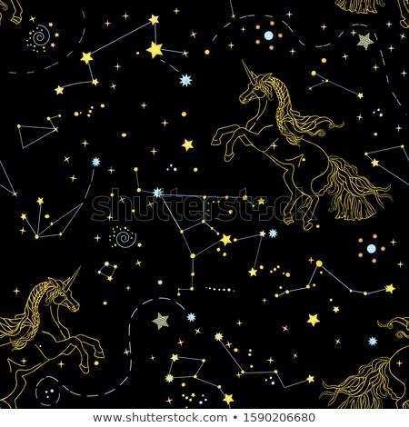 Starry Elements Seamless Pattern Stock photo © fixer00
