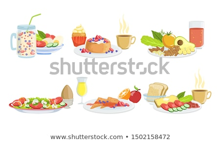 Foto stock: Requesón · fondo · grasa · sándwich · blanco