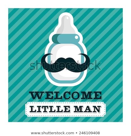 bebê · menino · chegada · anúncio · natureza · vaca - foto stock © designsstock