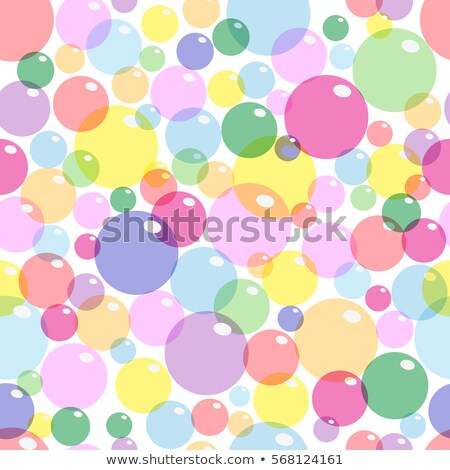 backdrop with round colored bubble pattern on white Stock photo © Melvin07