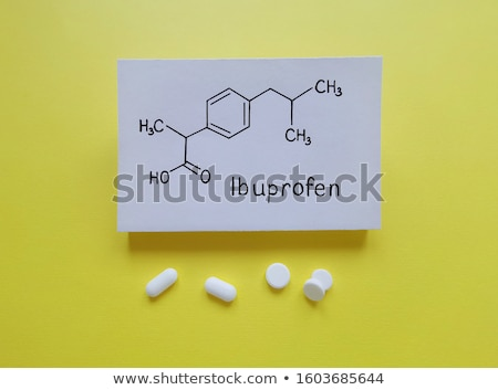 Tablet with the chemical formula of ibuprofen Stock photo © Zerbor