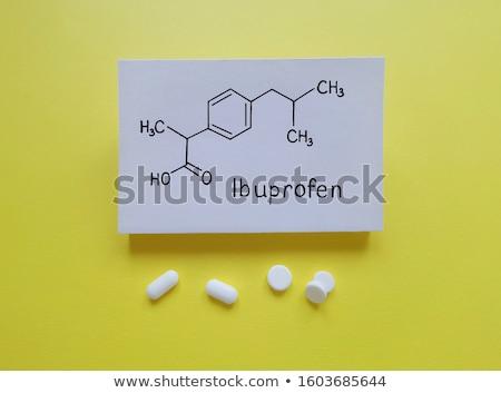 tabletta · vegyi · képlet · számítógép · orvos · kórház - stock fotó © zerbor