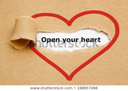 Open Your Heart Torn Paper Stock photo © ivelin