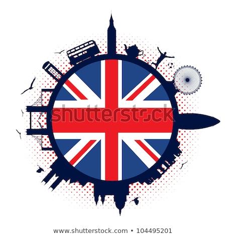 Anglii · retro · banderą · angielski · vintage · grunge - zdjęcia stock © kali